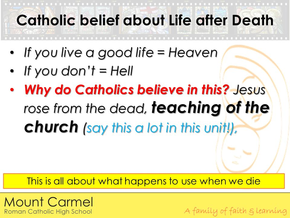 Catholic belief about Life after Death