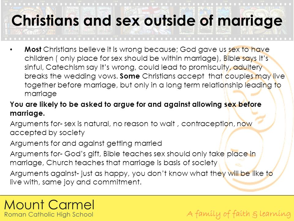 Christians and sex outside of marriage
