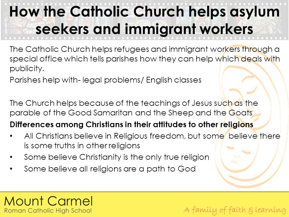 How the Catholic Church helps asylum seekers and immigrant workers