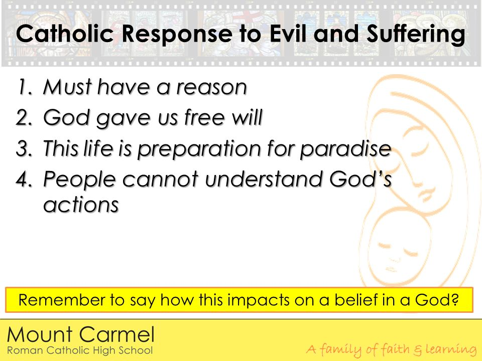 Catholic Response to Evil and Suffering