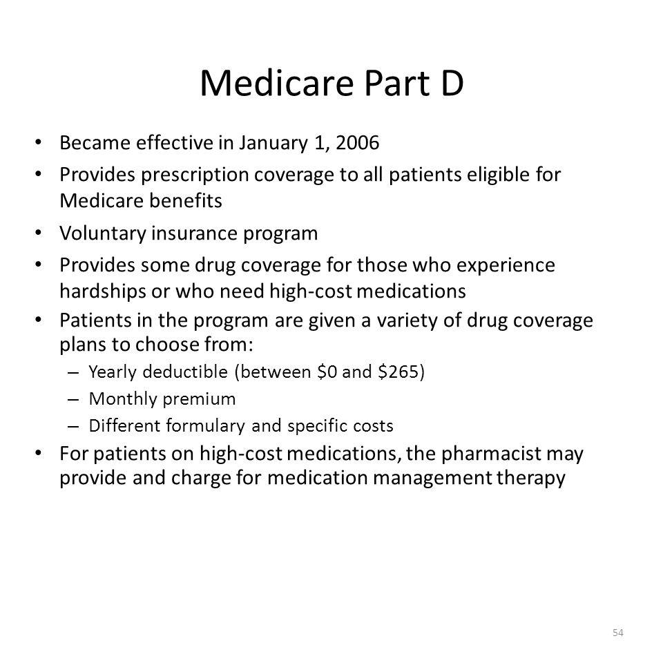 54 Medicare Part D