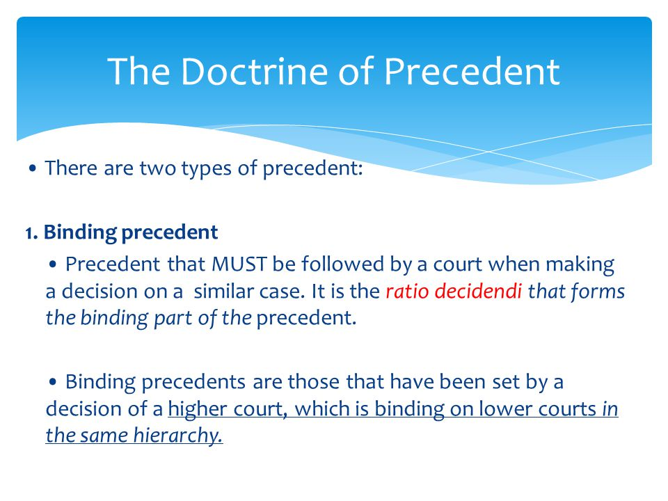 Essay on Judicial Precedent (1760 Words)