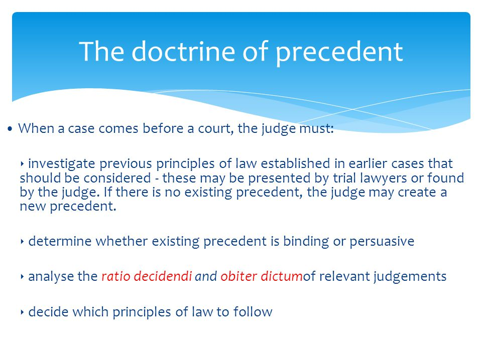 Essay: The Doctrine of Precedent