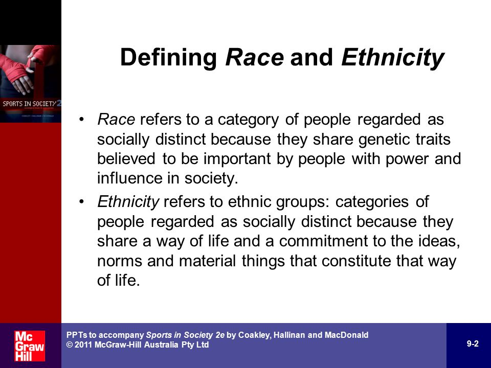 defining race and ethnicity 2 essay Defining race and ethnicity ethnicity is defined in terms of shared genealogy, whether actual or presumed typically, if people believe they descend from a particular.
