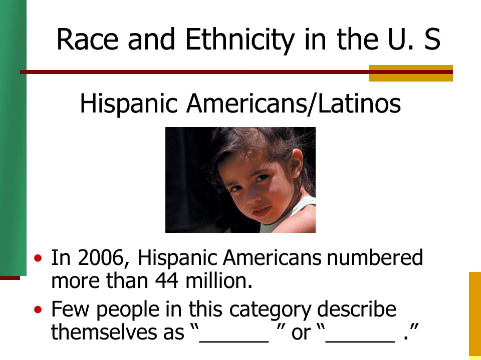 race ethnicity in our society Race & diversity courses develop a that continually arise in our pluralistic society can race be used of race and ethnicity are presented in the.