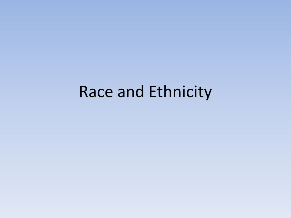 how to answer ethnicity and race