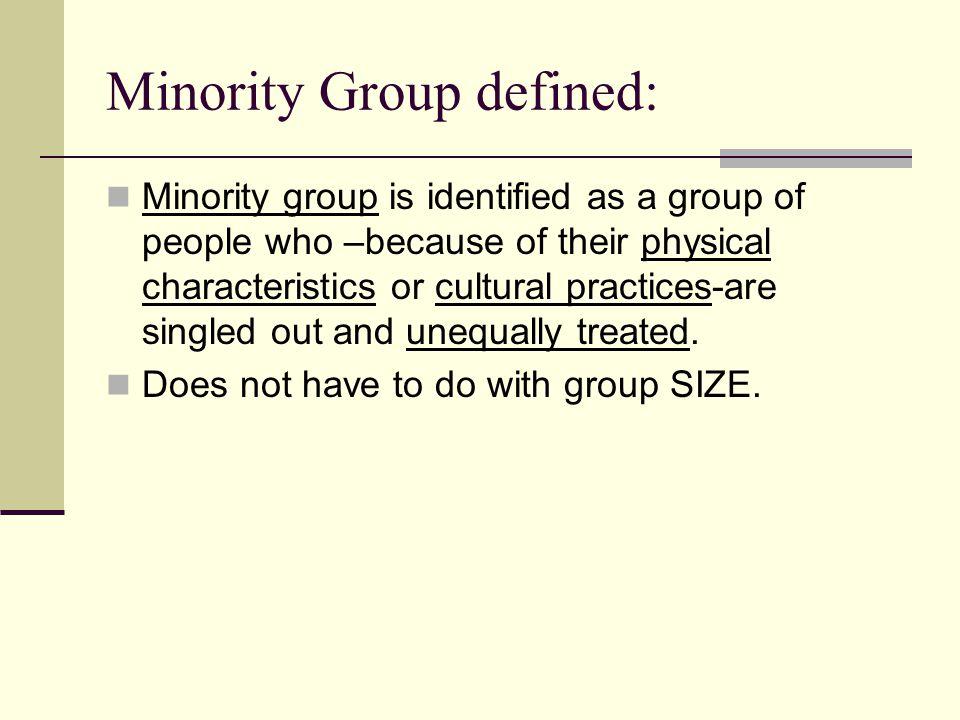 Minority definition