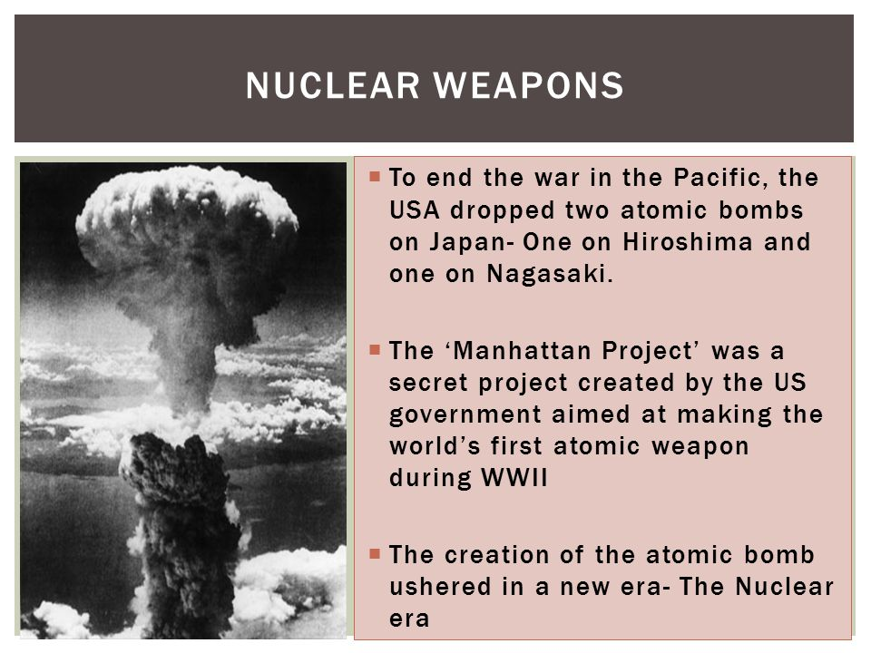 an introduction to the political world and the american atomic bombs in japan On august 6, 1945, at 8:15 the american plane the enola gay changed history forever the plane dropped the first atomic bomb over the city of hiroshima, japan in a successful effort to ended world war ii.