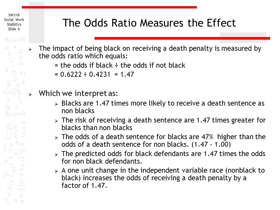 the correlation between offenders race and likelihood of receiving death sentence The study found that the odds of getting a death sentence increased three and a half times if the victim was white rather than blacksupreme court decisions on race.
