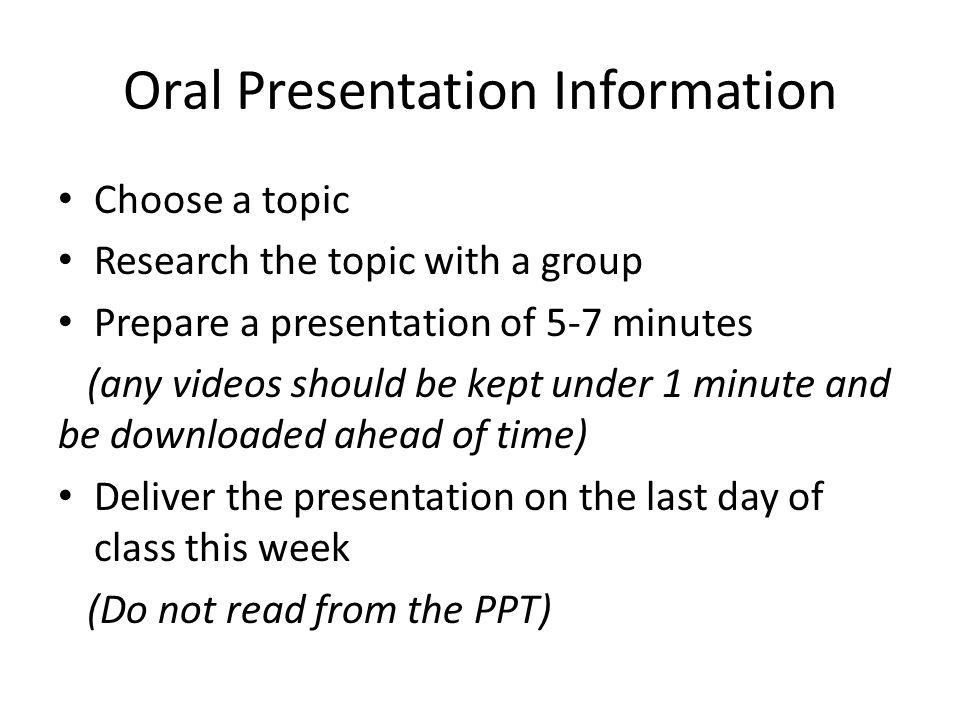 race and discrimination oral presentations ppt  oral presentation information