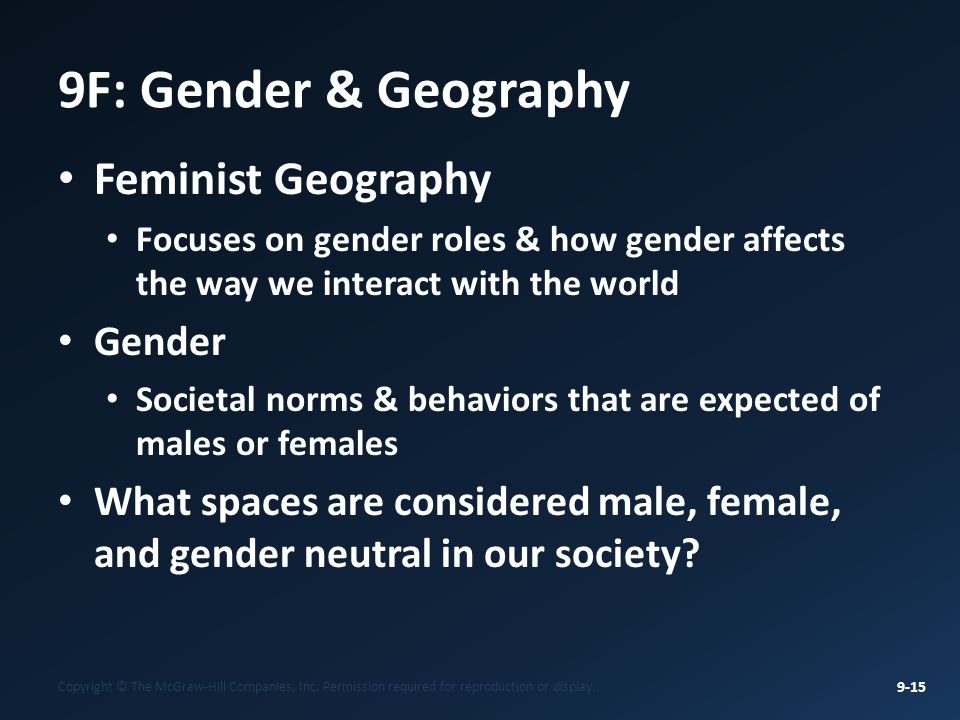 Feminist geography