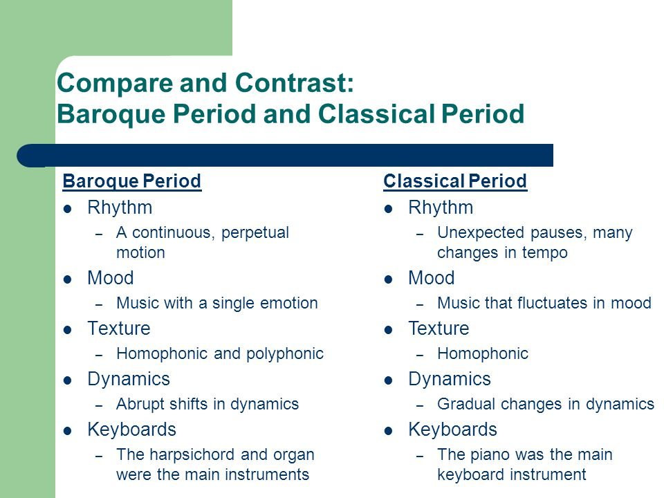Difference Between Classical and Romantic Music