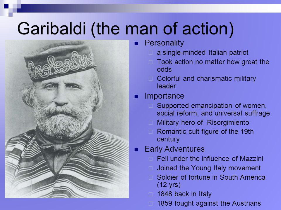 Garibaldi (the man of action)