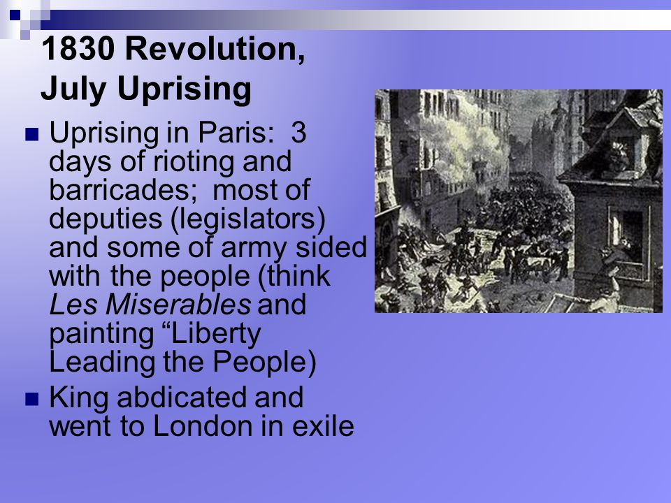 1830 Revolution, July Uprising