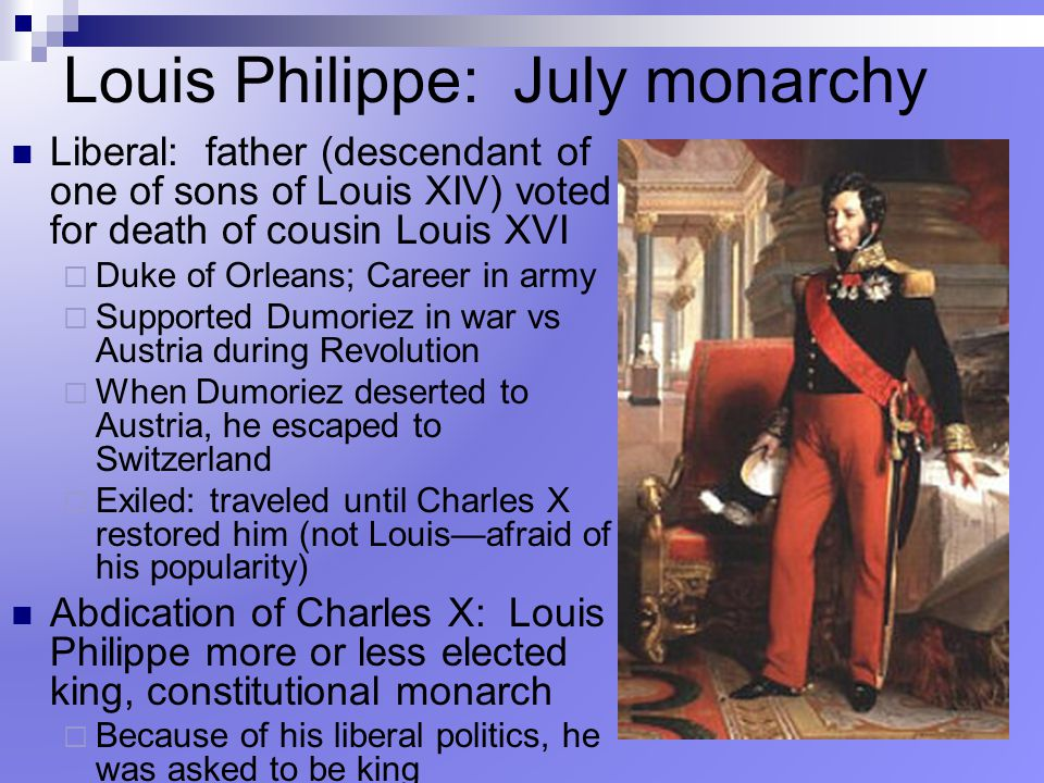 Louis Philippe: July monarchy