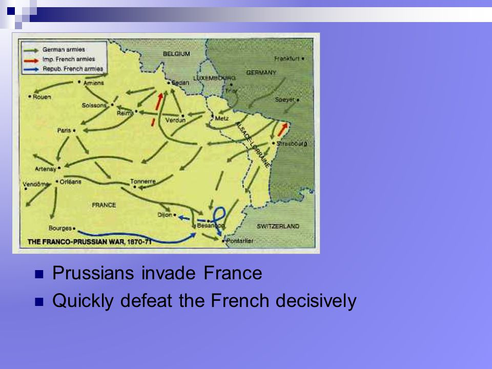 Prussians invade France