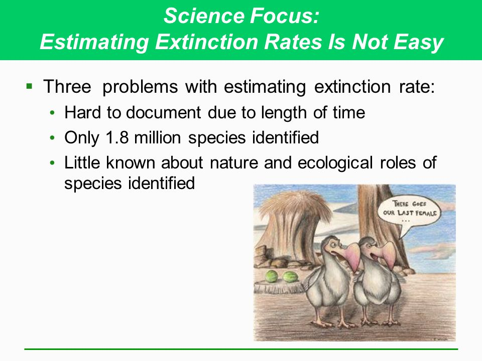 Science Focus: Estimating Extinction Rates Is Not Easy