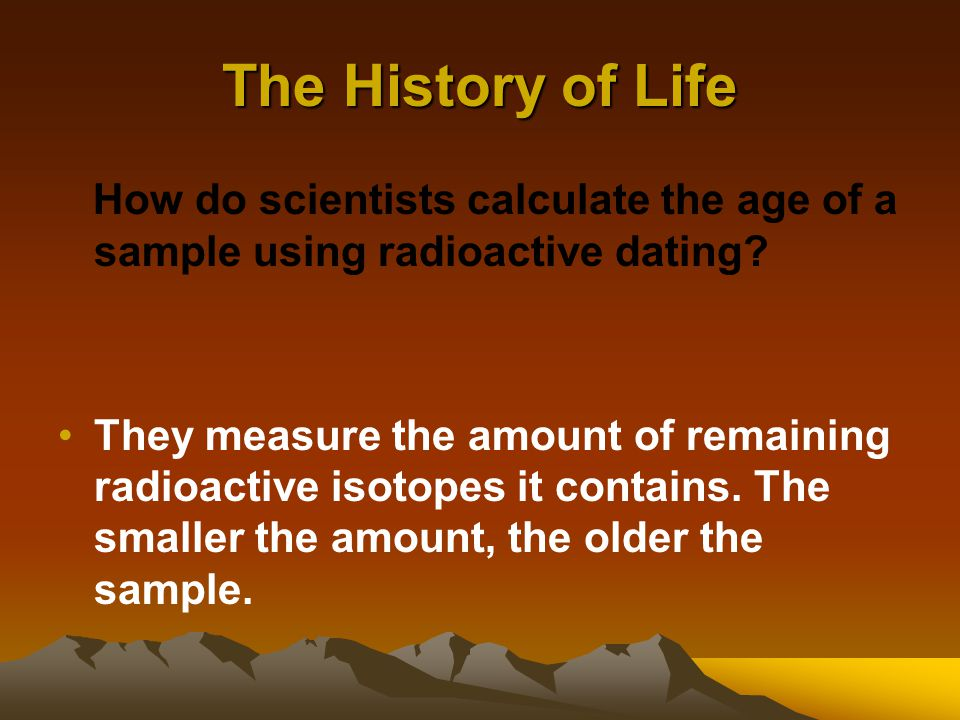 what does radioactive dating measure of a man