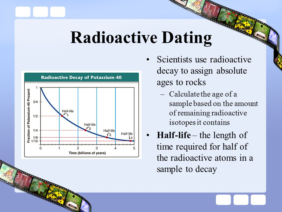 Using radioactive dating and samples of earth and