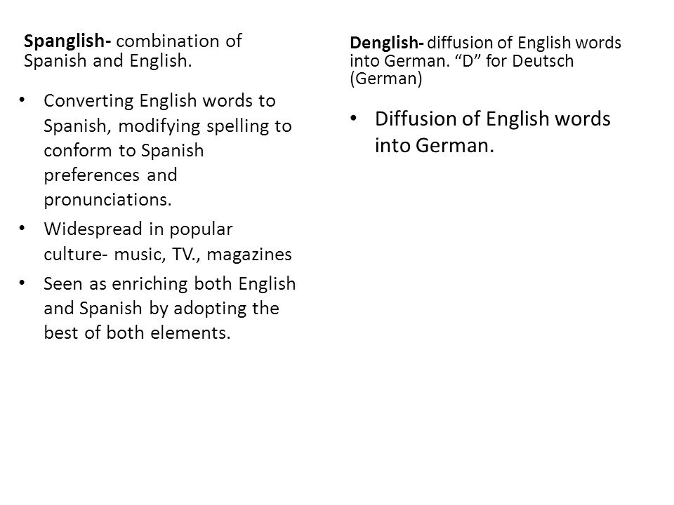 Diffusion of English words into German.