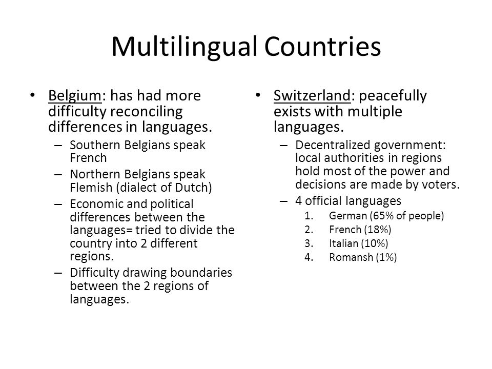 Multilingual Countries