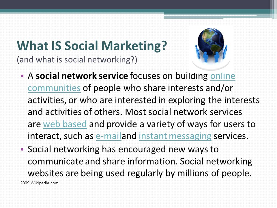 What IS Social Marketing (and what is social networking )