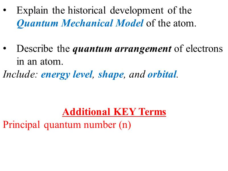 The development of quantum mechanics