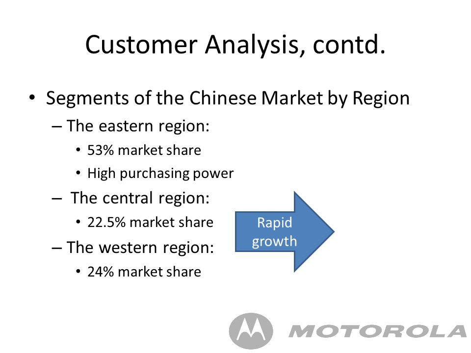 customer analysis on moto x Final thoughts & conclusion prior to the moto x, since being acquired by google, the execution strategy for motorola wasn't entirely clear google talked about there being a firewall between the .