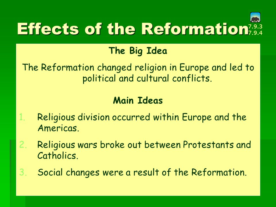 political and social impacts of the renaissance and reformation on europe Political and social transitions seen in japan and china from the 1300s to the mid-1800s the transitions and continuities in european society through the renaissance and reformation will then be analyzed.