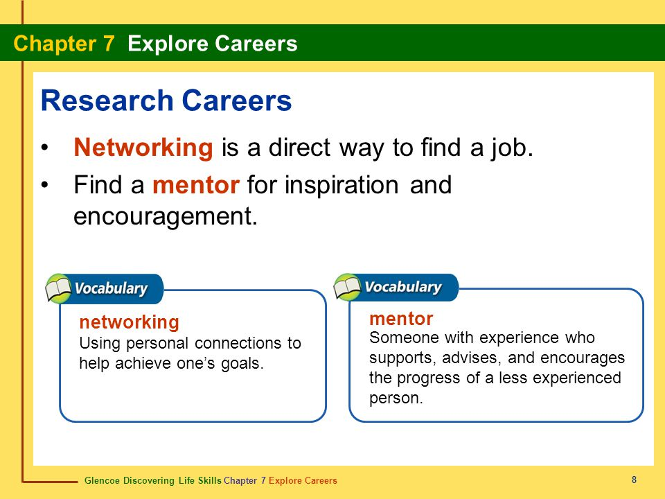 Research Careers Networking is a direct way to find a job.