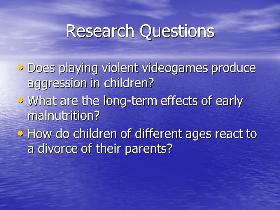 a research on the study of the effects of divorce on childs behavior Effects of divorce on child development introduction child development is a dynamic and comparative study of children's psychological and behavioral changes from birth till adolescence.