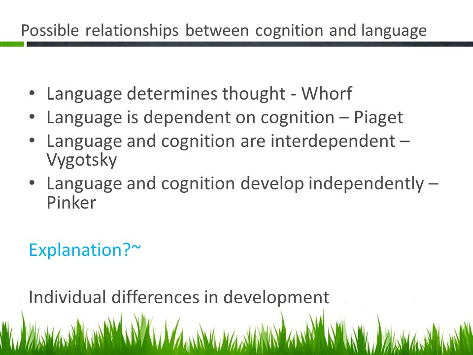 seleskovitch language and cognition relationship