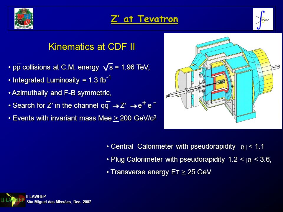 Z' at Tevatron Kinematics at CDF II -