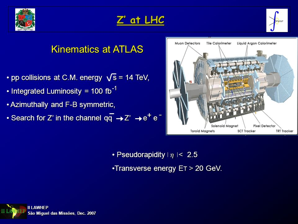Z' at LHC Kinematics at ATLAS -