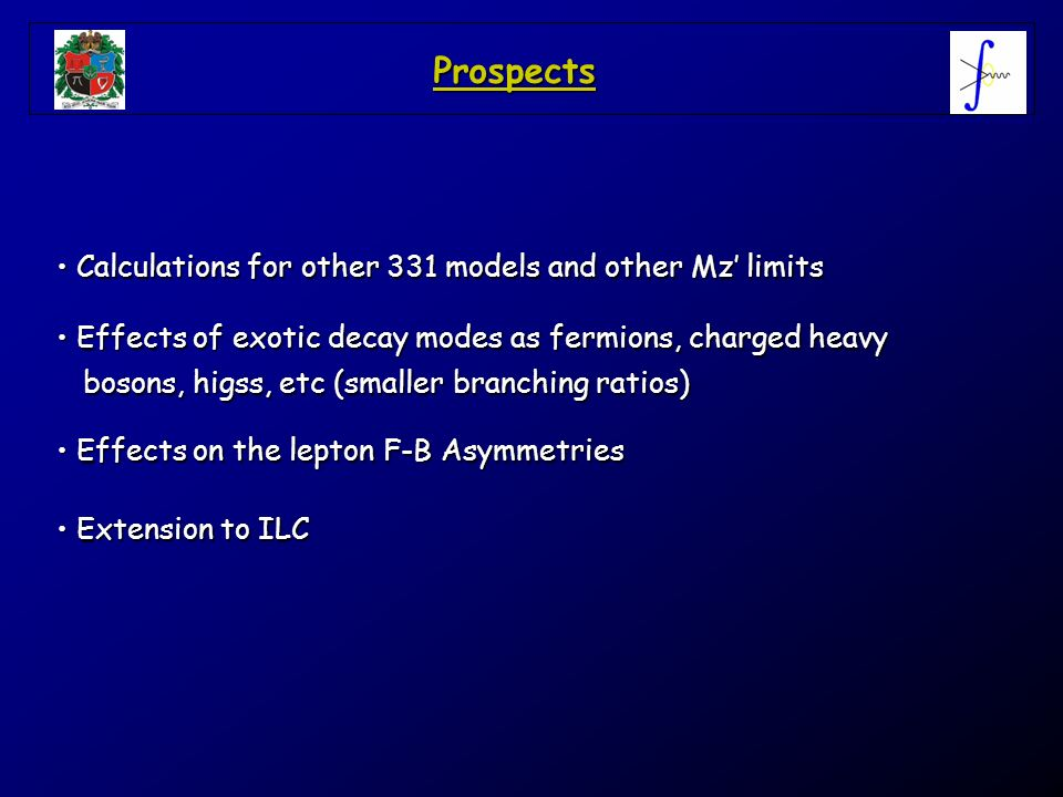 Prospects Calculations for other 331 models and other Mz' limits