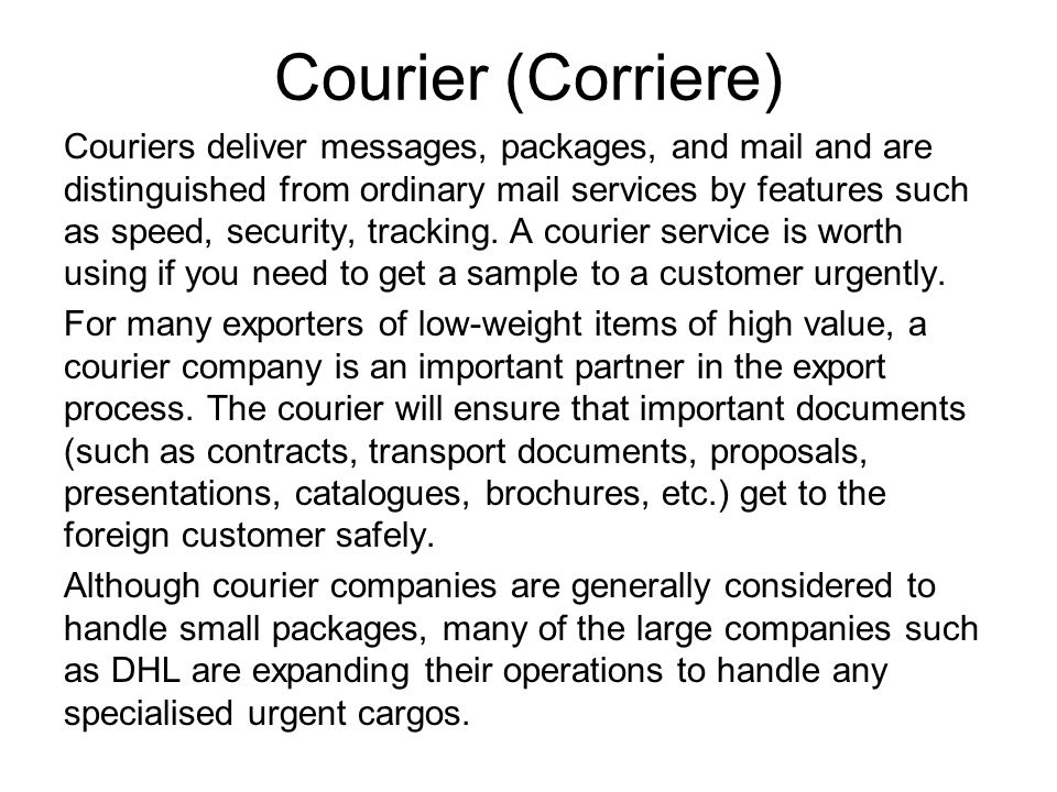 Courier (Corriere)