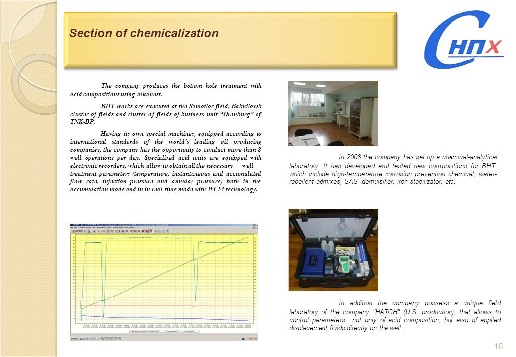 Section of chemicalization