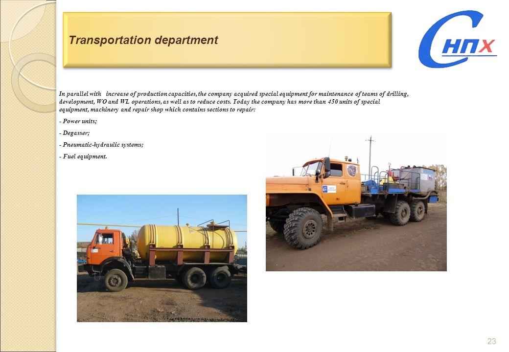 Transportation department