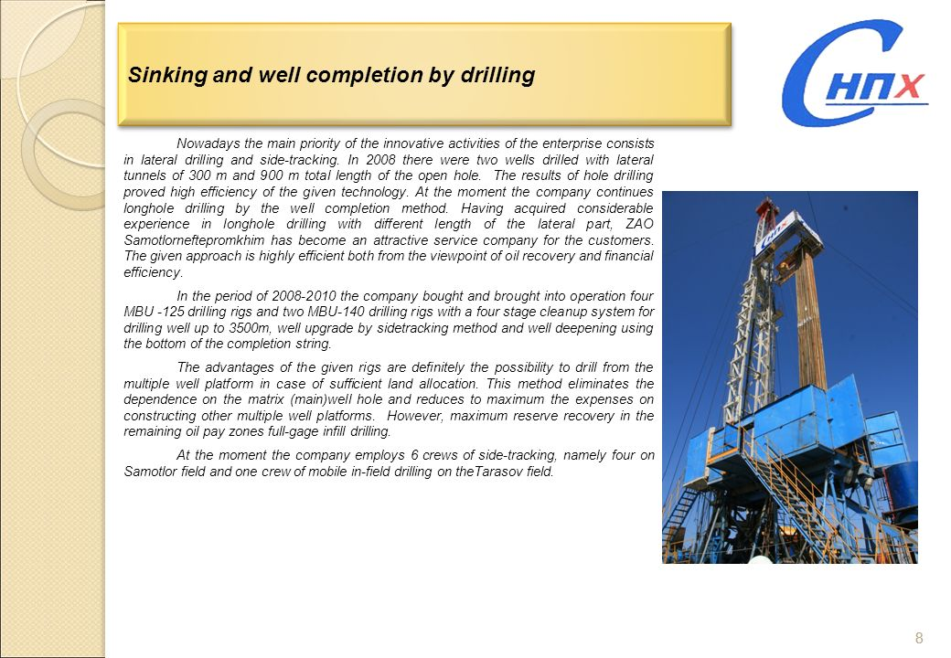 Sinking and well completion by drilling