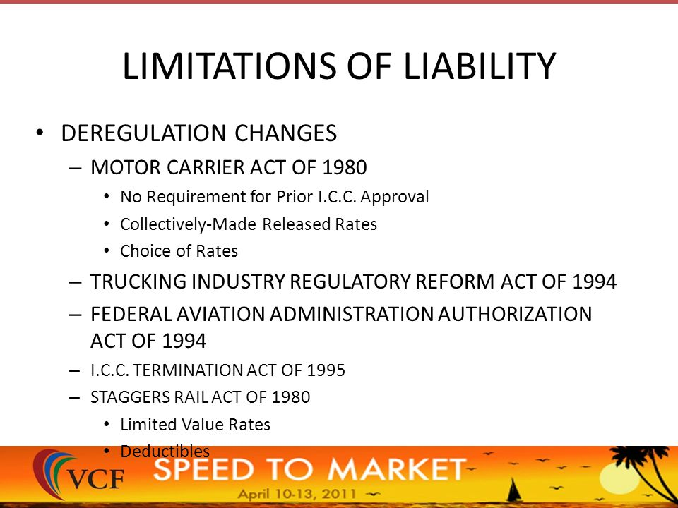 the deregulation of the motor carrier industry In 1948, with the motor carrier industry facing antitrust lawsuits and investigations by the department of justice (doj) and several states none of the concerns expressed by skeptics of deregulation have proven valid to the extent that transportation costs form a component of the ultimate retail price.