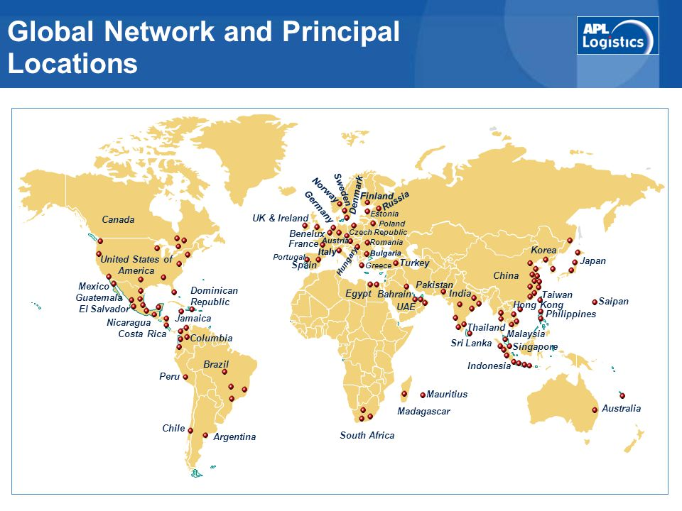 Global Network and Principal Locations
