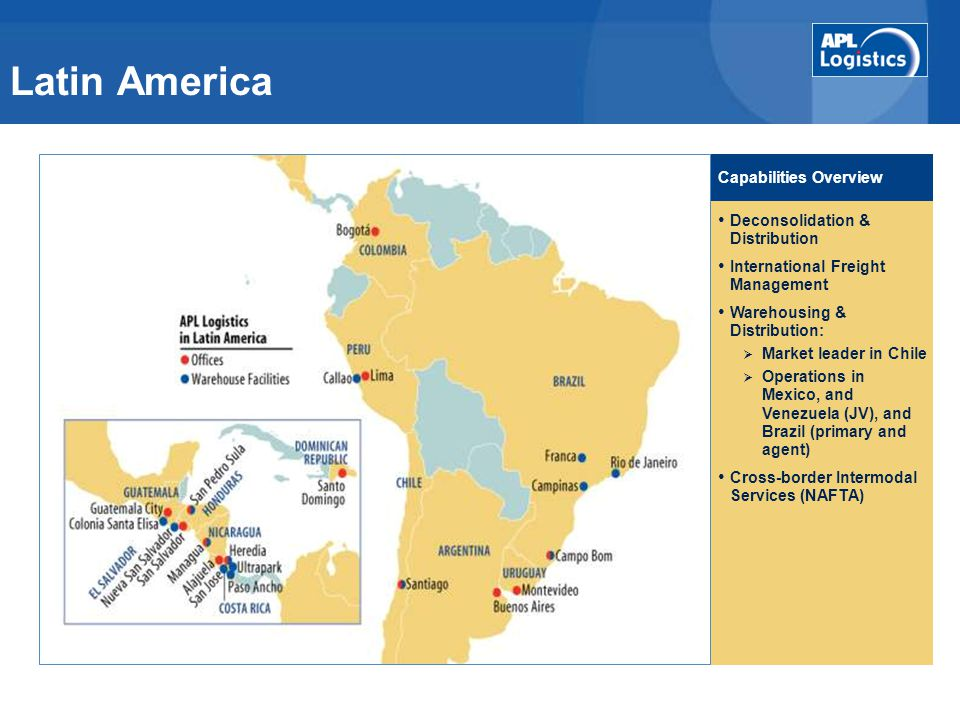 Latin America Capabilities Overview Deconsolidation & Distribution