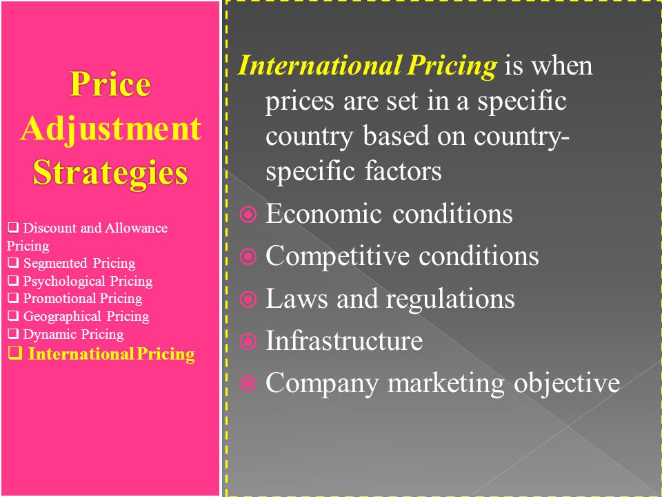 price objective and strategies Jonathan dodd outlines a ten-point plan for leveraging shopper marketing in difficult economic  what role does price now play  strategies for a.