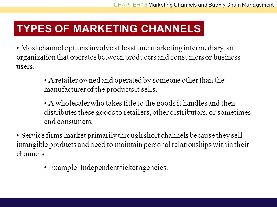 relationship between producer and consumer channel of distribution