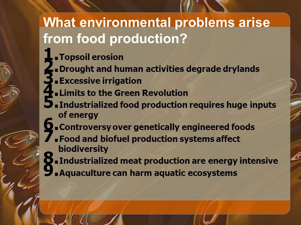 13 What environmental problems ...