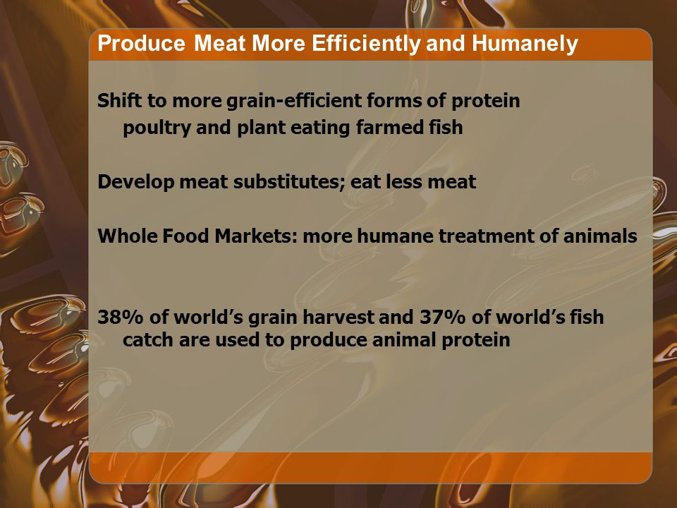 Produce Meat More Efficiently and Humanely