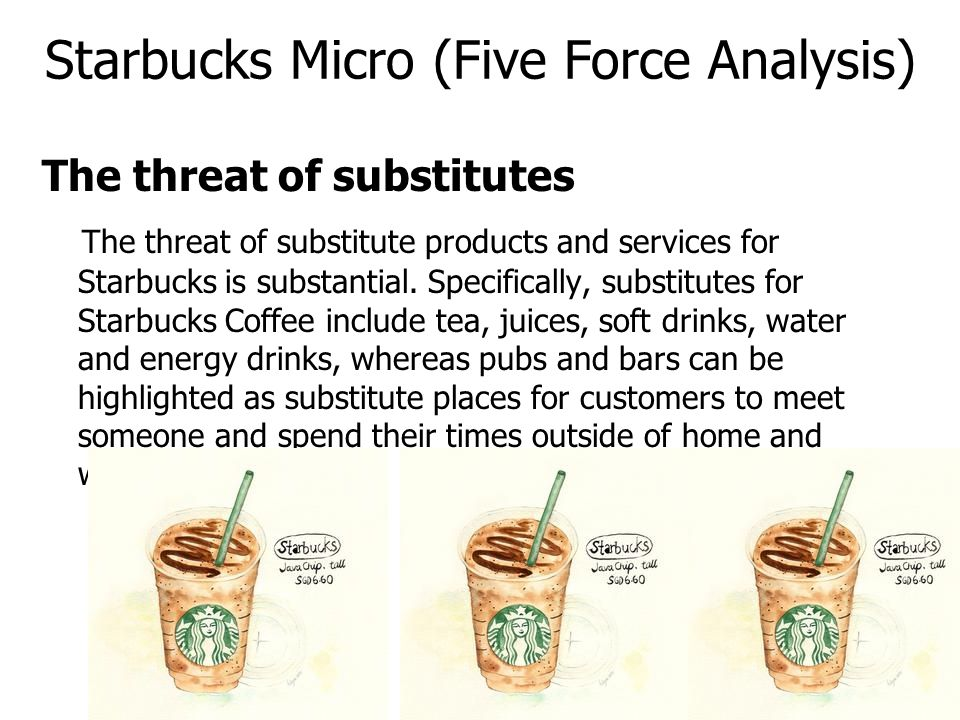 porter five forces for starbucks in The clute institute students were asked to go through an annual earnings  report of starbucks corporation  porter's five forces, swot  vrio, value  chain.