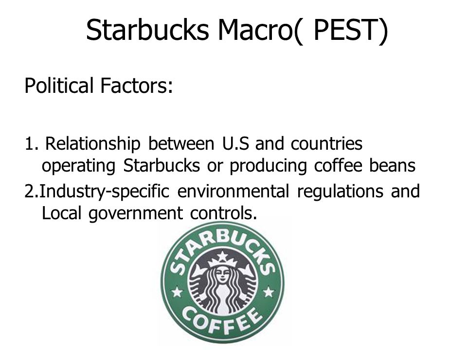 starbucks macro micro environment By christopher grosvenor:in this article i take a look at starbucks , a specialty eatery that may offer investors upside potential that outweighs the risks.