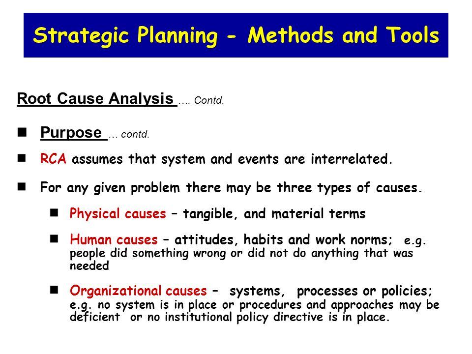 types of analysis for strategic planning You may be doing business planning or marketing or human resource planning or one of those other types of planning with which corporate strategic planning is too often confused most of these are partial planning techniques, planning for parts or functions of an organization, as opposed to corporate planning, planning for the whole.
