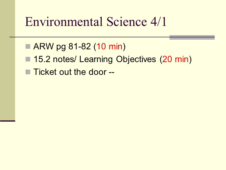 Environmental Science 4/1
